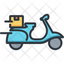 Scooter Delivery Logistic Icon