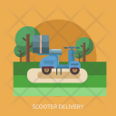 Scooter Delivery Transport Icon