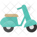 Scooter Vespa Moped Icon