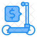 Scooter Cost Price Sharing Icon