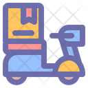 Deliver Transportation Courier Icon