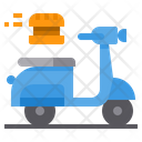 Scooter Order Delivery Transport Berger Icon