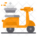 Scooter Delivery Order Food Transport Icon