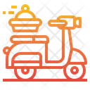 Scooter Delivery Order Icon