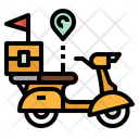 Delivery Bike Parcel Icon