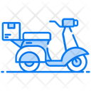 Scooter Delivery Shipment Cargo Icon