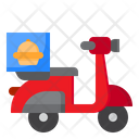 Motorcycle Delivery Food Icon