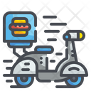 Scooter Delivery Food Delivery Scooter Icon