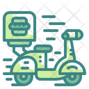 Scooter Motorcycle Transport Icon