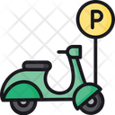 Scooter Parking Two Wheeler Parking Scooter Park Icon