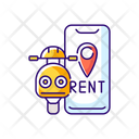 Scooter Rental Transport Icon