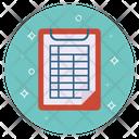 Score Sheet Score Clipboard Score Report Icon