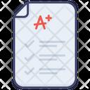 Scores Sheet A Icon