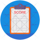 Scoresheet Data Sheet Score Report Icon