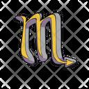 Scorpio Zodiac Sign Icon