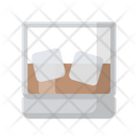 Drink Glass Ice Cube Icon