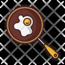 Scrambled Eggs Food Pan Icon