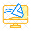 Screen Cleaning Computer Screen Icon