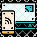 Technology Monitor Screen Mirroring Icon