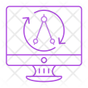 Screen Compass Drawing Icon