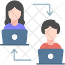 Screen Sharing Transfer Screen Work Sharing Icon
