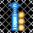 Screw Extruder Color Icon