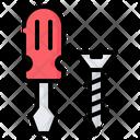 Screwdriver Screw Repair Icon