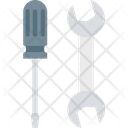 Screwdriver And Spanner Screwdriver And Wrench Screwdriver Icon