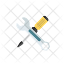 Screwdriver And Wrench Setting Tool Cross Tools Icon