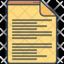 Scenarios Script Document Icon