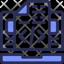 Laptop Coding Script Icon