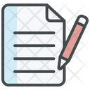 Script Development Writing Notes Icon