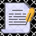 Story Writing Script Writing Draft Icon