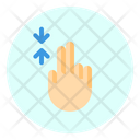 Scroll Finger Gesture Icon