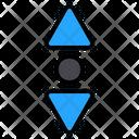 Scroll Swipe Down Icon