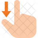 Scroll Down Finger Icon