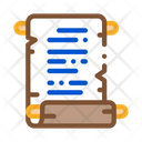 Scroll Parchment Paper Icon