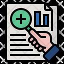 Scrutinizing Data Icon