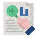 Scrutinizing Data Icon