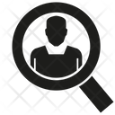 Scrutiny Magnifier Detective Icon