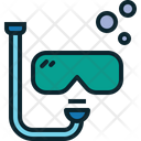 Diving Activity Recreation Icon