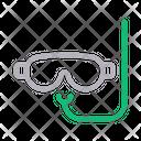 Scuba Swimming Mask Icon