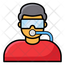 Scuba Diving Underwater Swimming Snorkelling Icon