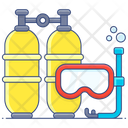 Snorkelling Snorkel Tube Dive Mask Icon