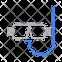 Scuba Diving Glasses Icon