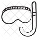 Snorkelling Mask Snorkelling Snorkel Tube Icon