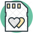 Sd Card Heart Icon