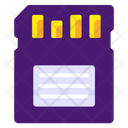 Memory Card Sd Card Microchip Icon
