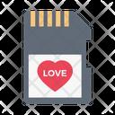 Sd Card Heart Icon
