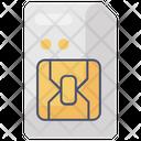 Sd Card Memory Card Microchip Icon